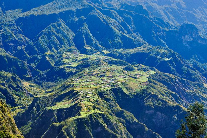 image France Reunion village enclave Ilet Cordes Cirque Cilaos  fo