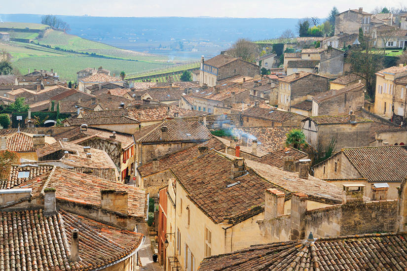 image France Saint Emilion vue aerienne  it