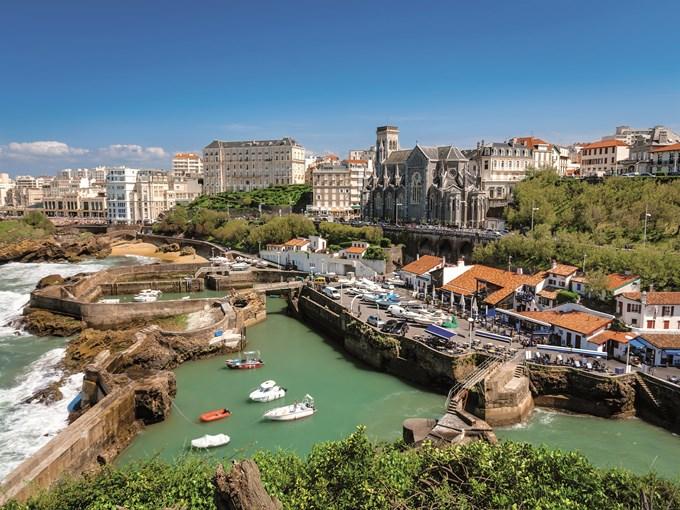 image France biarritz vue ensemble port