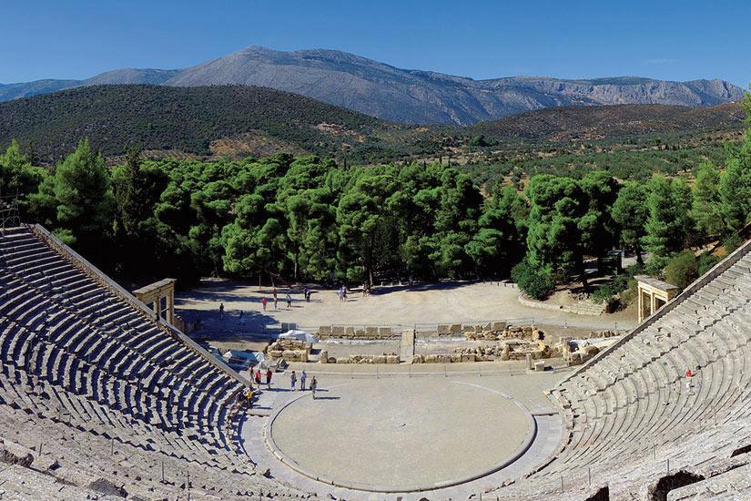 image Grece Argolide Theatre d Epidaure dans le Sanctuaire d Asclepios  fo