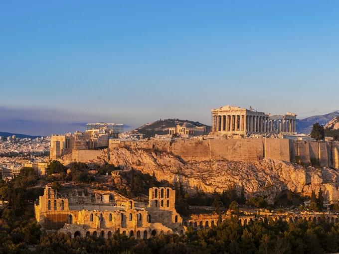 image Grece Athene vue ensemble temple