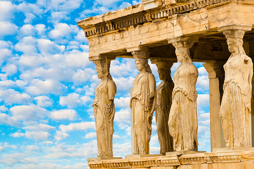 image Grece Athenes Caryatids Erechteion Acropole  it
