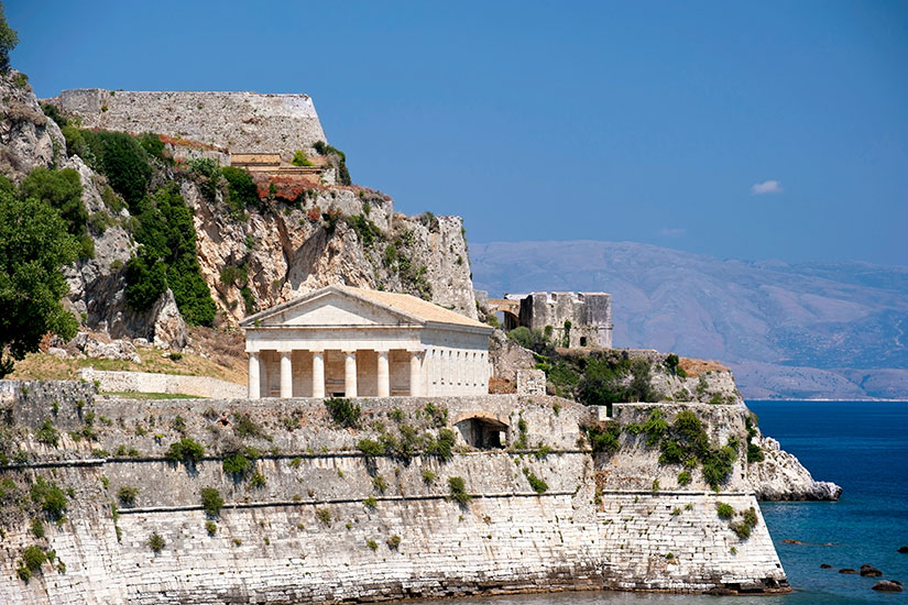 image Grece Corfu temple  it