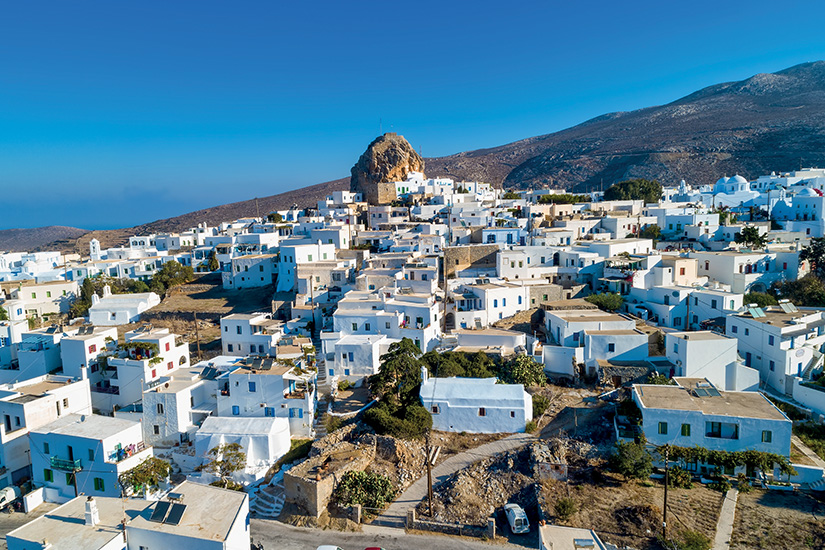 image Grece Cyclades Amorgos Chora as_244965293