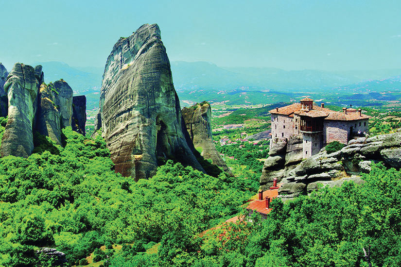 image Grece Meteora Structure batie  it
