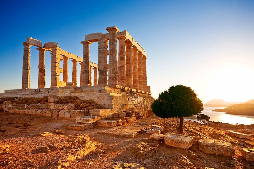image Grece Sounion Temple Poseidon  it