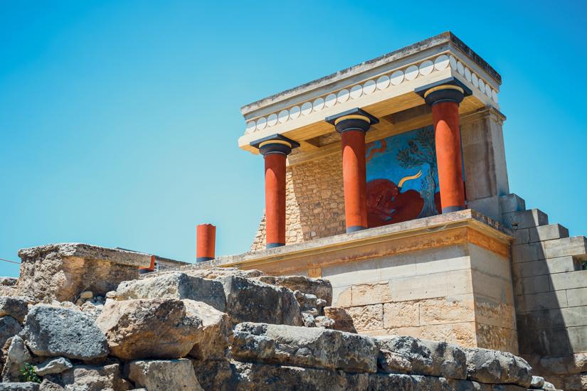 image Grece crete knossos ruines pittoresques palais minoen 32 fo_166135717