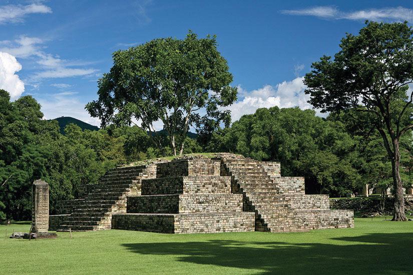 image Honduras Copan Pyramide precolumbian  it