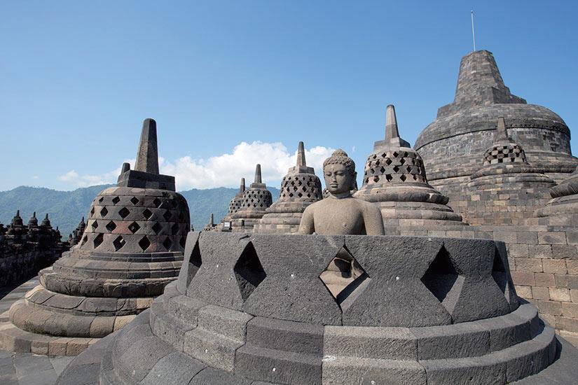 image Indonesie Java Borobudur Yogyakarta temple  fo