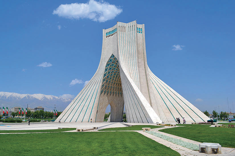 image Iran Teheran Azadi monument  it
