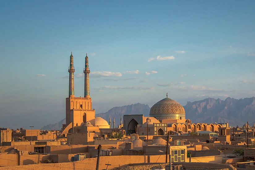 image Iran Yazd Panorama  fo
