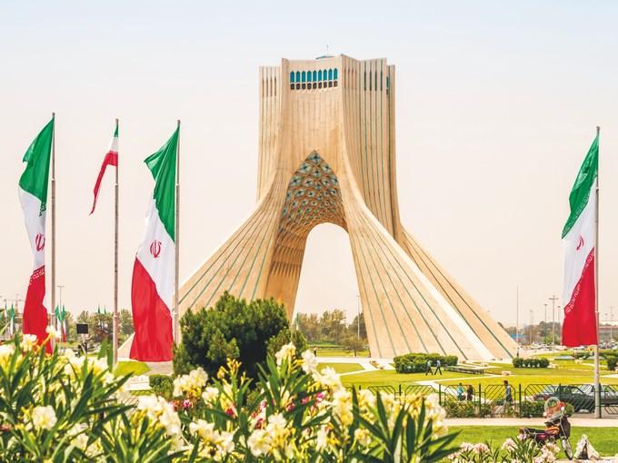image Iran teheran drapeau