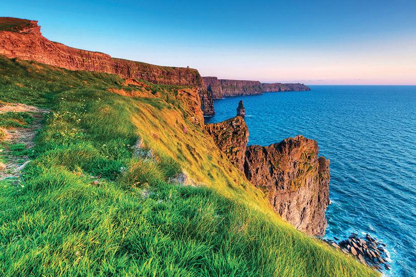 image Irlande Clare falaises de Mother au coucher du soleil  fo