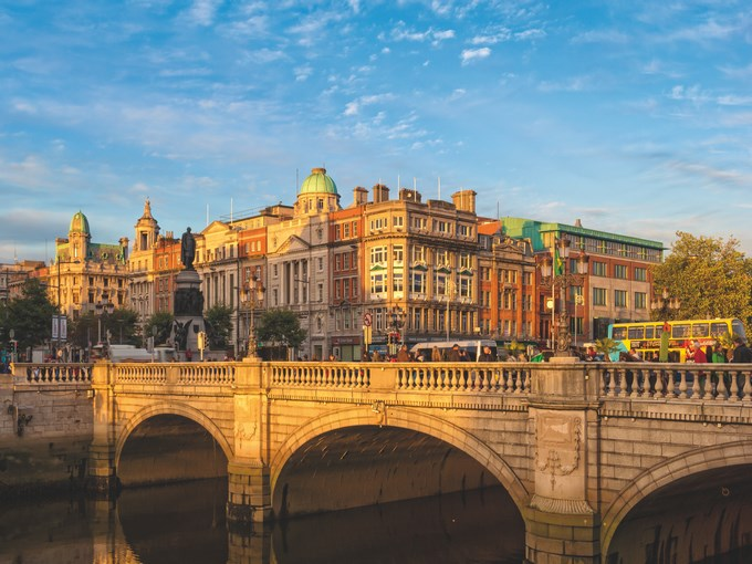 image Irlande dublin o connell street soleil