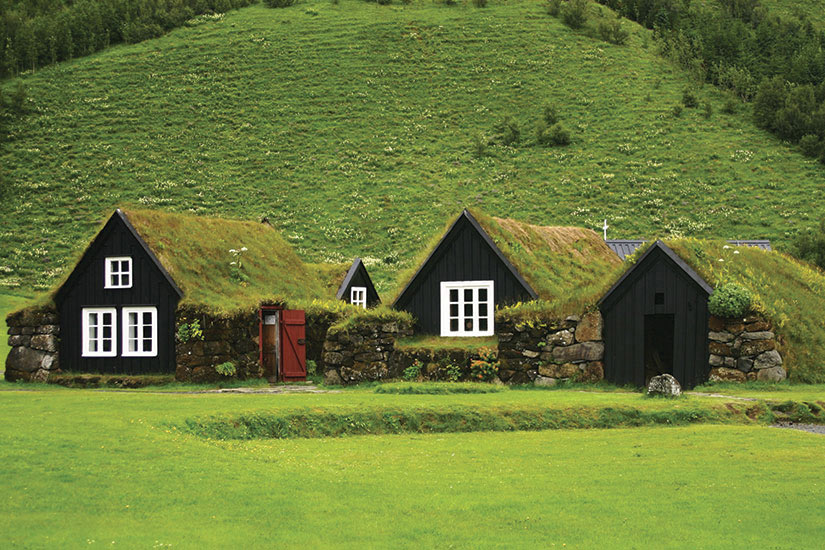 image Islande maisons traditionelles  fo