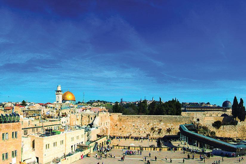 image Israel Jerusalem Mur occidental et Dome du Rocher  fo