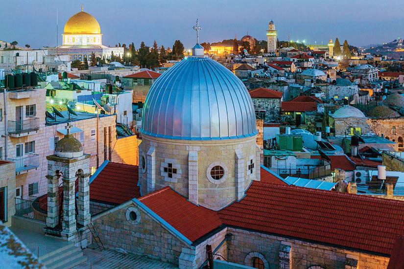 image Israel Jerusalem vieille ville au nuit  it