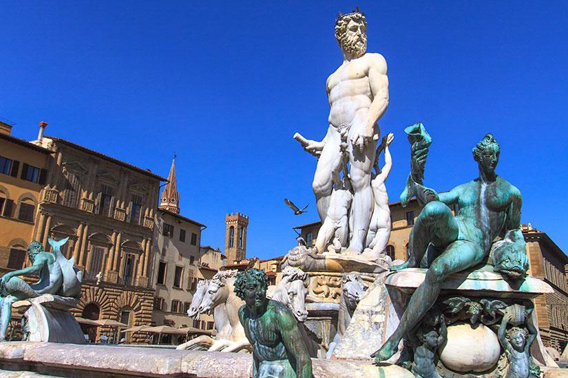 image Italie Florence Fontaine de Neptune  it