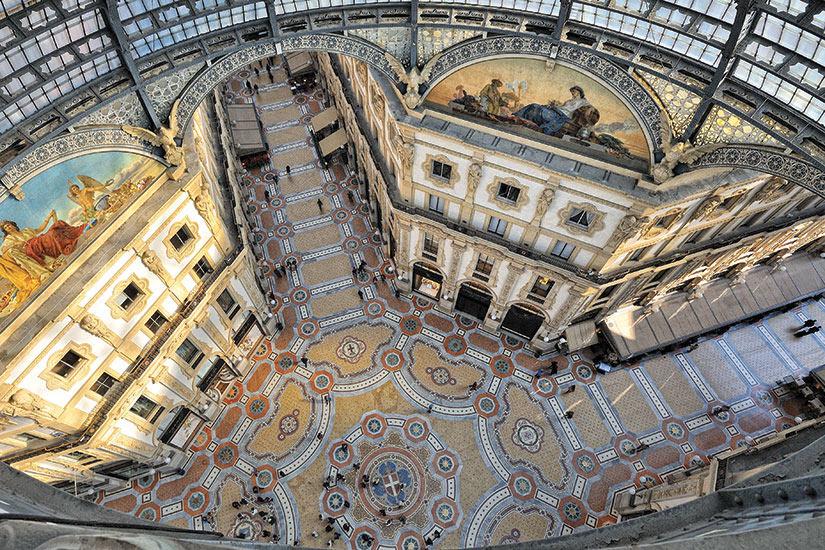 image Italie Milan Gallerie Vittorio Emanuele vue de dessus  fo