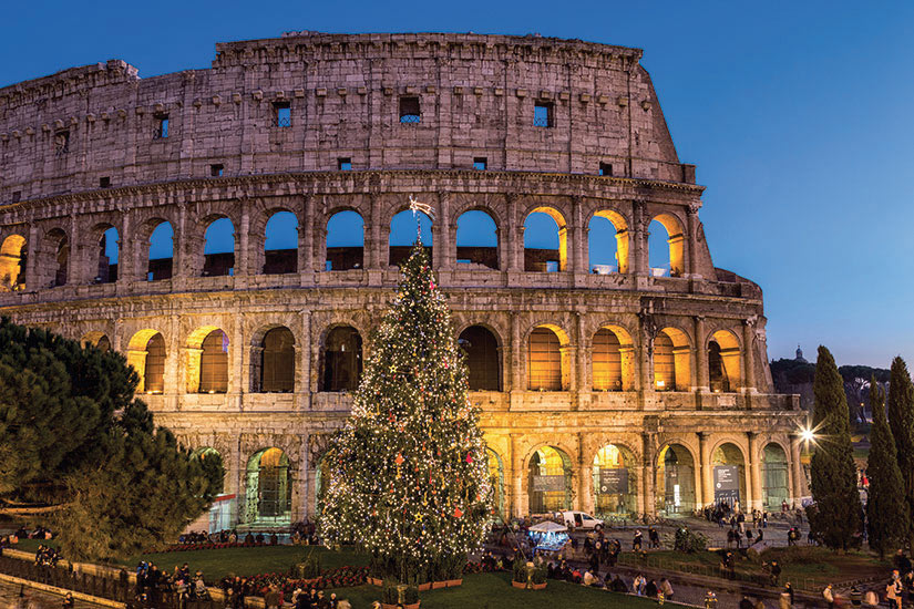 image Italie Rome Colisee fete Noel  it