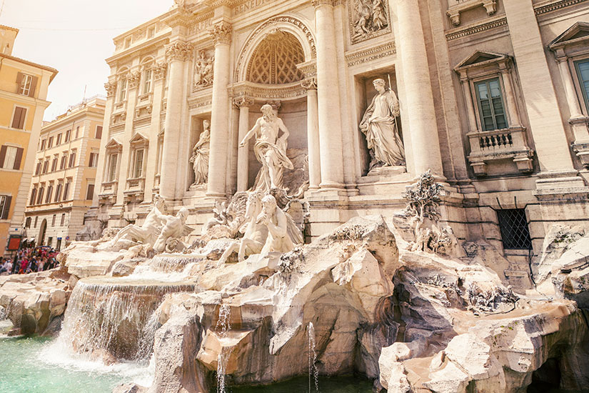 image Italie Rome Fontaine Trevi  it