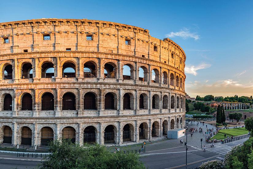image Italie Rome coucher du soleil au Colisee  fo