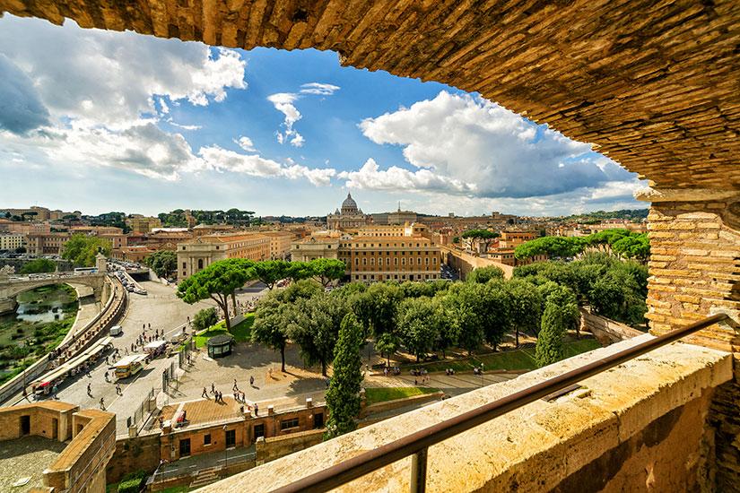 image Italie Rome vue depuis Castel Sant Angelo  it