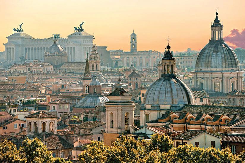 image Italie Rome vue du Rme du Castel Sant Angelo  it