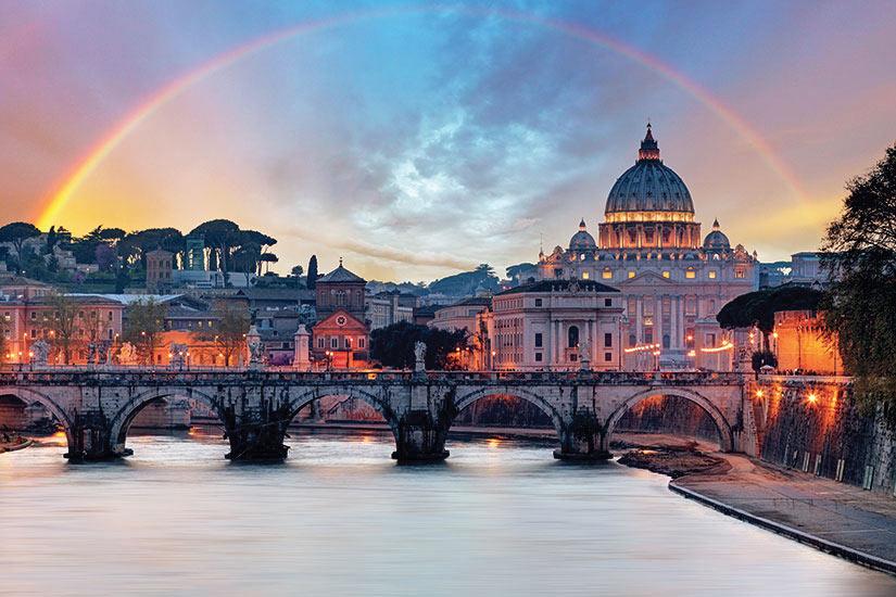 image Italie Vatican Basilique Saint Pierre et Tibre  fo