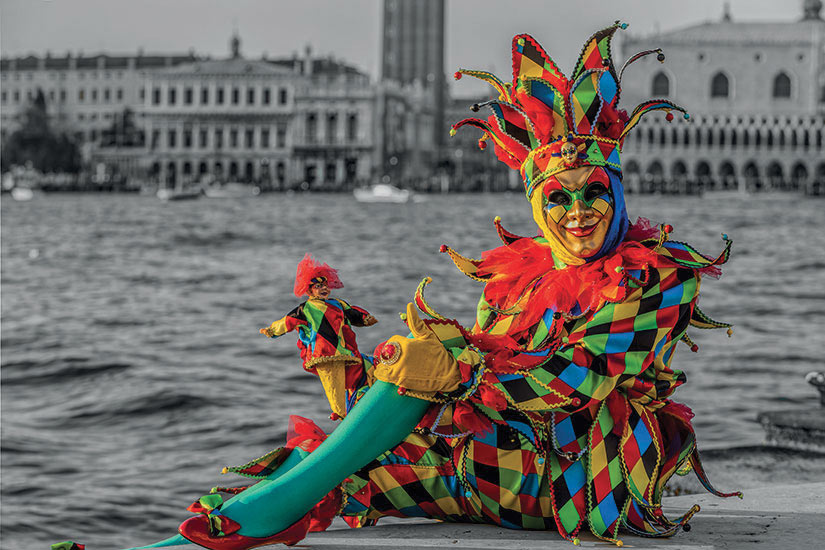 image Italie Venise Arlequin Carnaval  fo