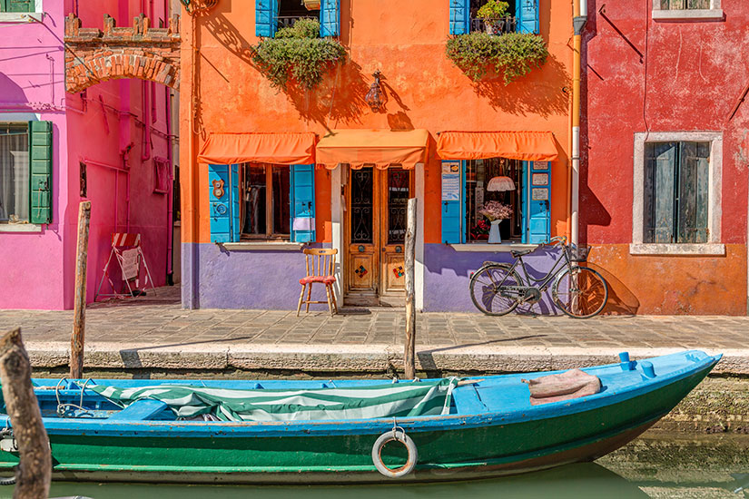 image Italie Venise Burano canal  it