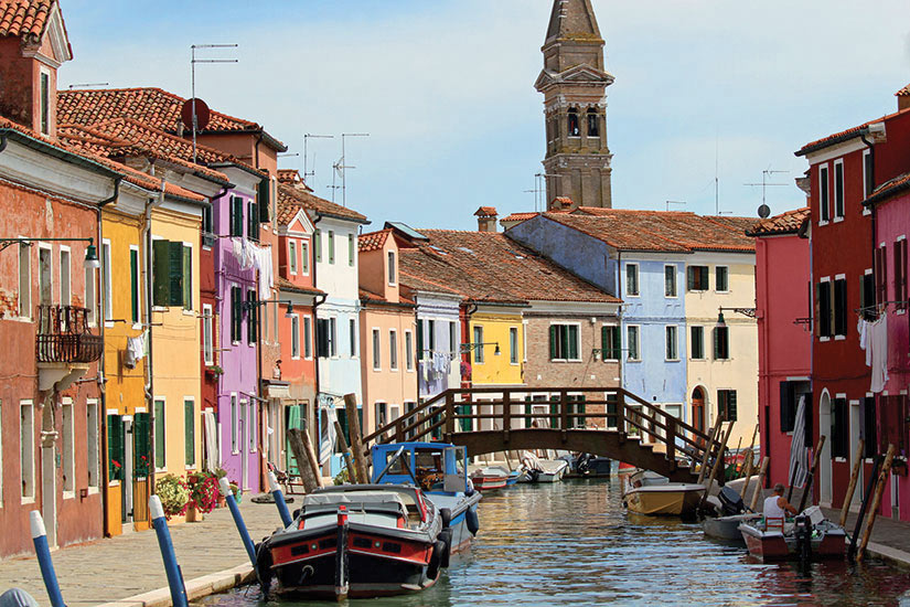 image Italie Venise Clocher de Burano  fo