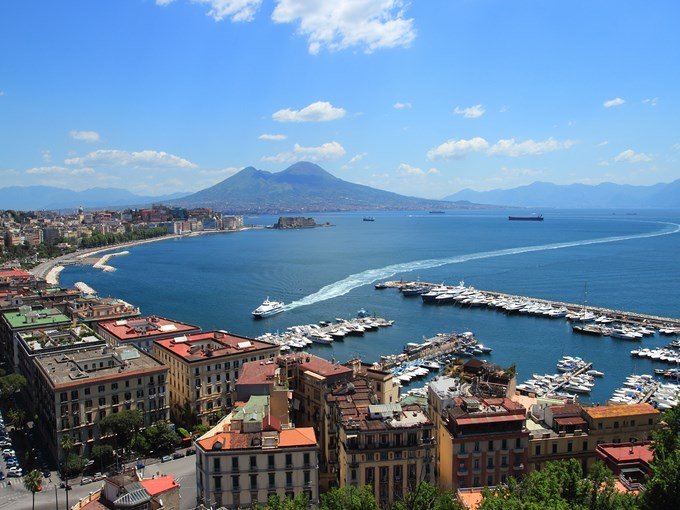 image Italie naples vue aerienne ensemble