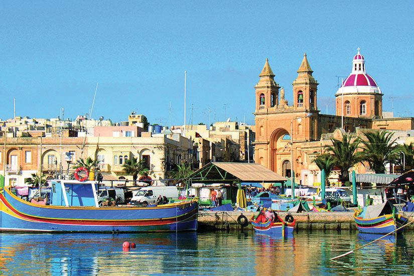 image Malte Marsaxlokk Port Panorama  fo