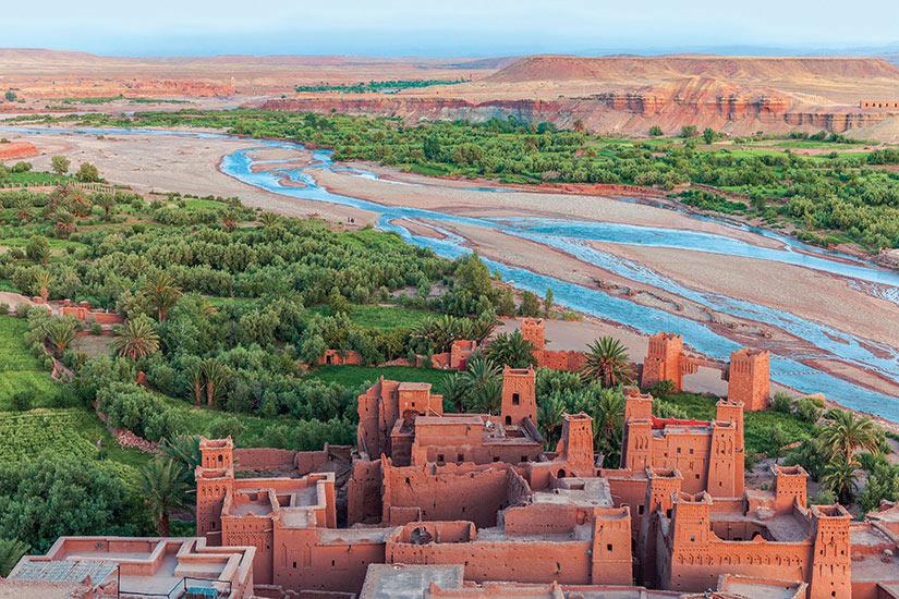 image Maroc Ait Ben Haddou vue aerienne  it
