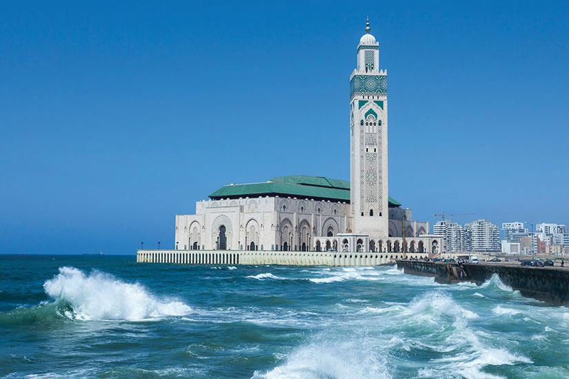 Image Maroc Casablanca La Mosquee Hassan Le Plus Grande Au It Carte