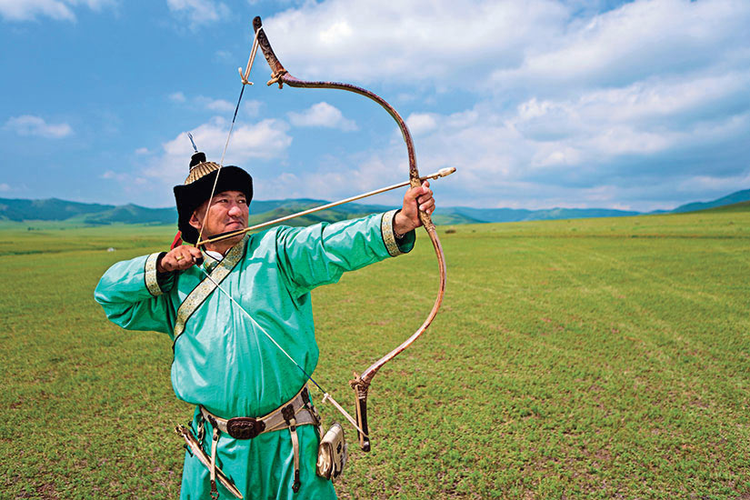 image Mongolie archer mongol  it
