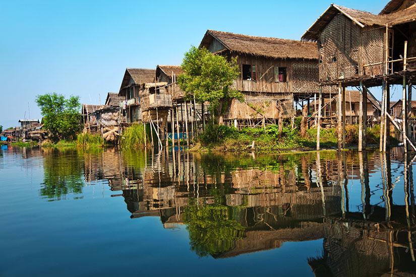 image Myanmar Maisons pilotis bois  it