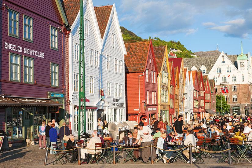 image Norvege Bergen Restaurant Bryggen  it