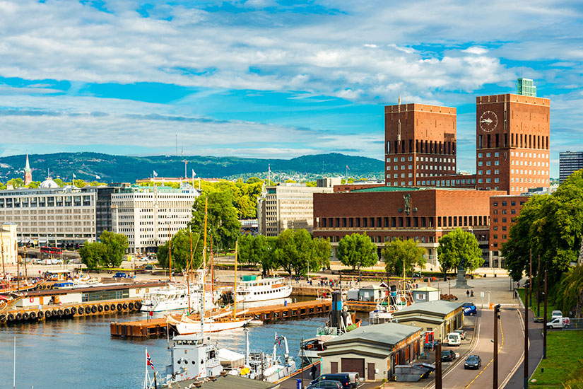 image Norvege Oslo port  it