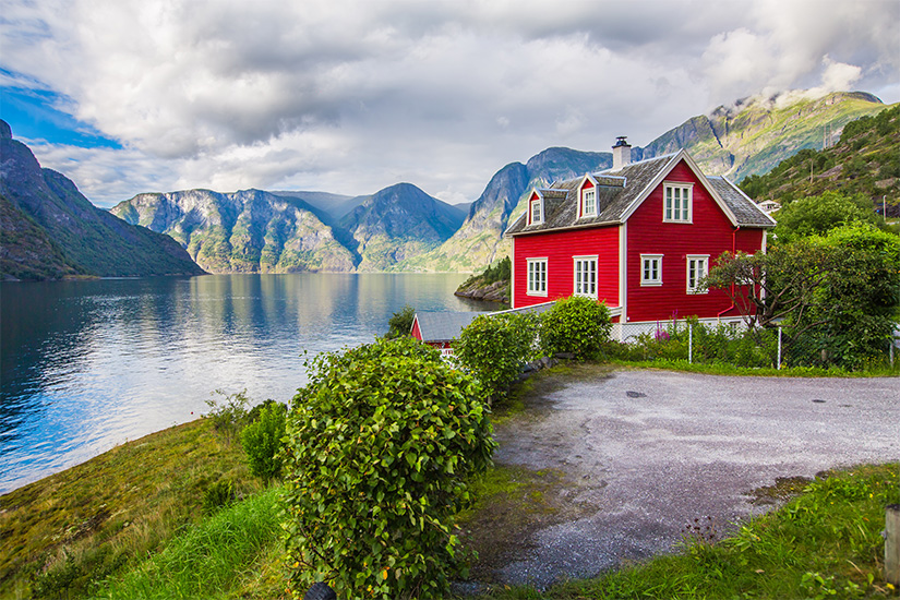 image Norvege Sognefjord maison rorbu as_125056267