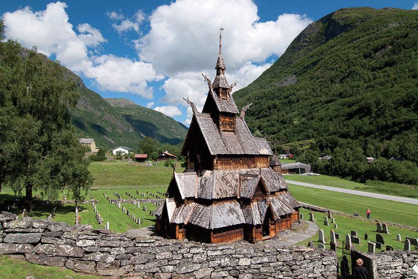 image Norvege Stavkirke Borgund eglise  fo