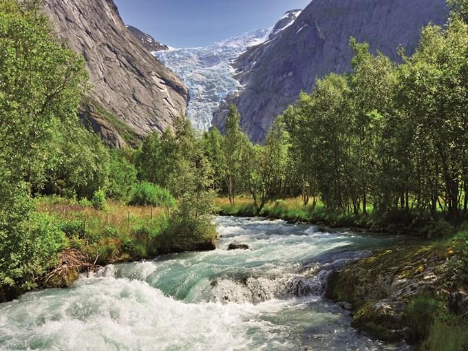 image Norvege glacier briksdal