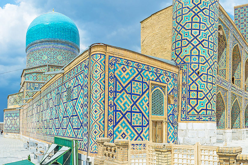 image Ouzbekistan Samarcande Blue dome  it