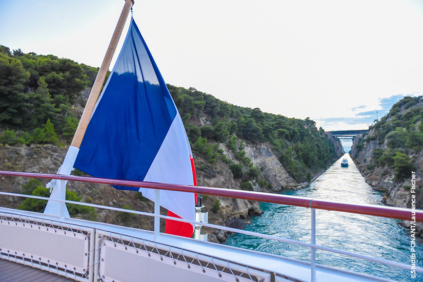 image PONANT navire Lyrial canal de corinthe Grece