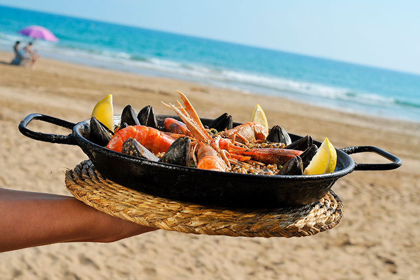 image Paella plage  it