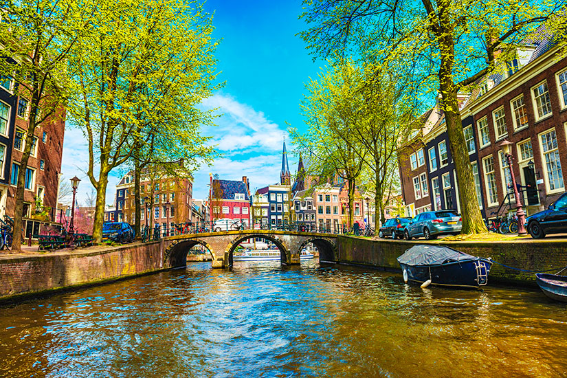image Pay Bas Amsterdam canal  it