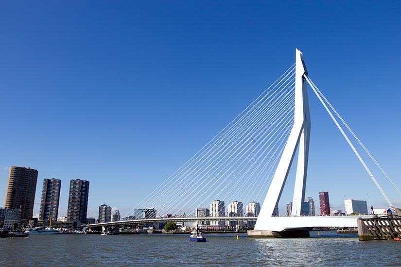 image Pays bas Rotterdam pont Erasmus  fo