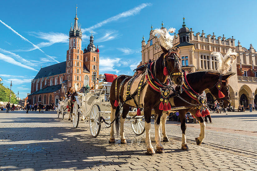 image Pologne Cracovie Vieille ville chariot  fo