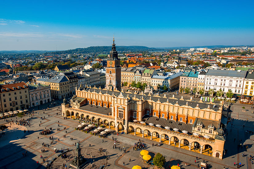 image Pologne Cracovie place marche  it